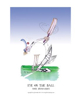 Eye on the Ball - signed print